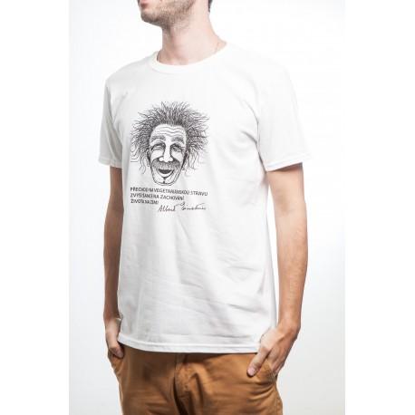 Pánské tričko Einstein bílé