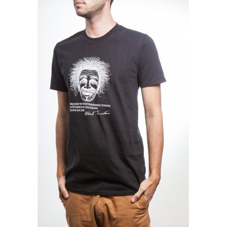 Pánské tričko Einstein černé