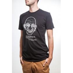 Pánské tričko Gándhí černé
