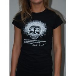 Dámské tričko Einstein černé